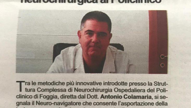 Tumori, interventi innovativi (e mininvasivi) agli Ospedali Riuniti di Foggia.