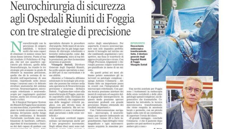 La moderna neurochirurgia al Policlinico di Foggia
